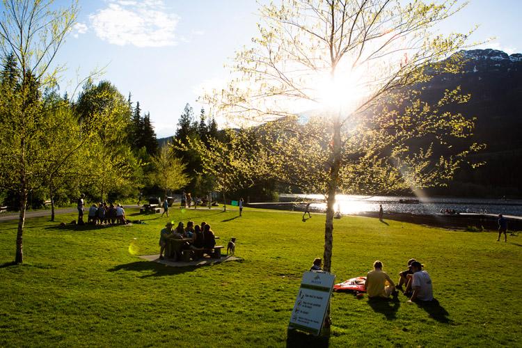 Summer Picnic in Whistler at Lakeside Park