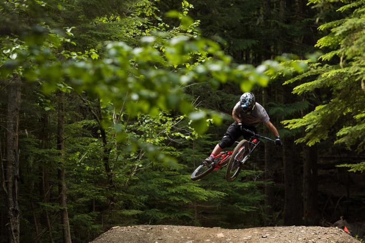 Mountain Biker on Heart of Darkness Trail