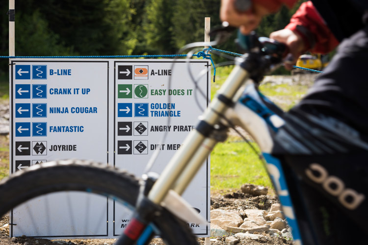 Whistler Bike Park Open Trails