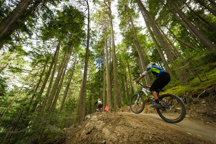 Think Bike participants in Whistler Bike Park