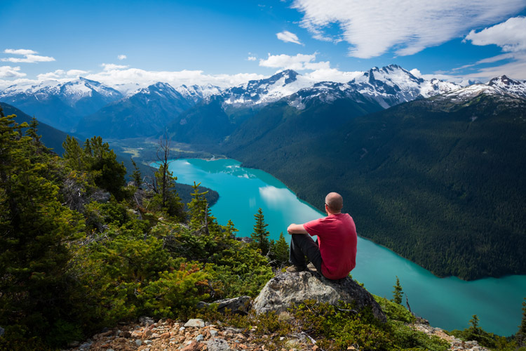 Epic views of Cheakamus Lake