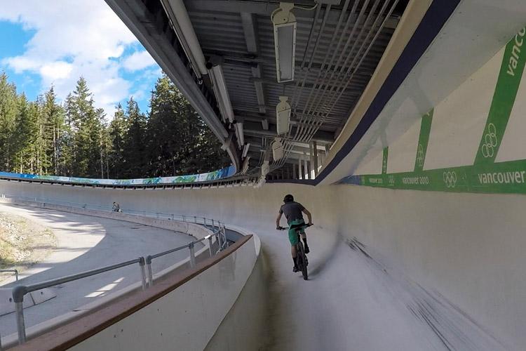 Mountain Biking on the Whistler Bobsled Track