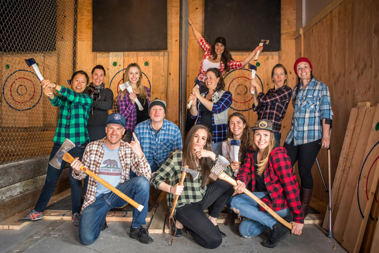 Forged Axe throwing Party