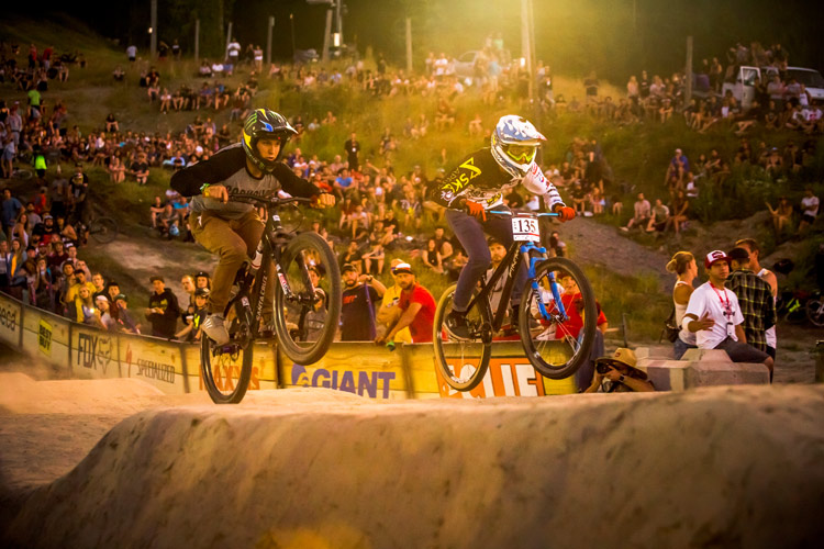 Pump Track Challenge heats at Crankworx Whistler