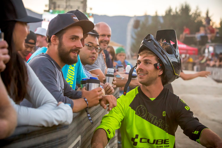 Trackside advice at Crankworx Whistler