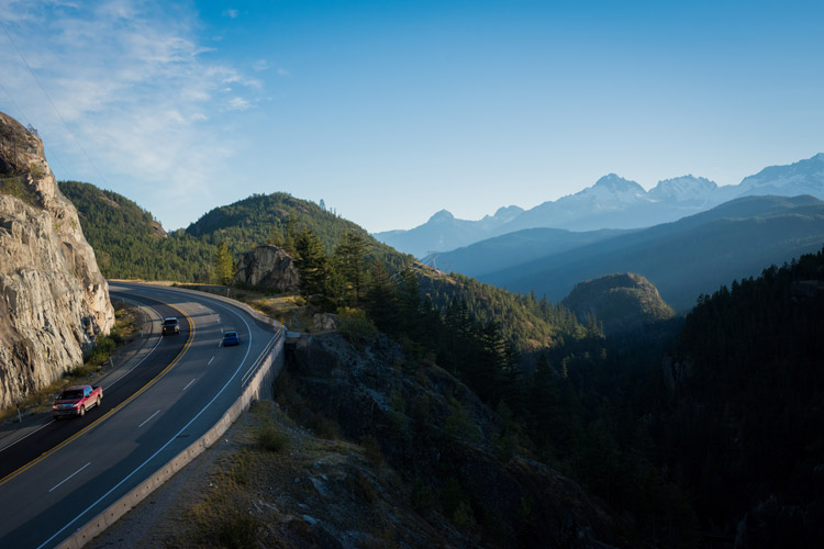 The stunning Sea to Sky Highway