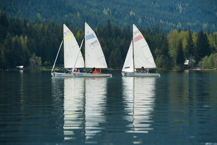 Sailing on Alta Lake in Whistler