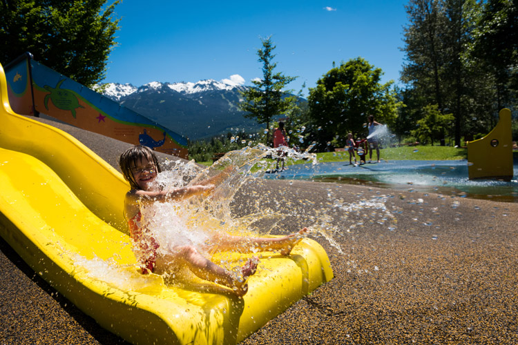 Great way to cool off at the Meadow Park kids water park