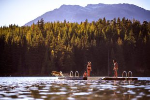 Floating Dock at a Lake Whistler