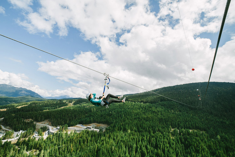 The Sasquatch Zipline in Whistler
