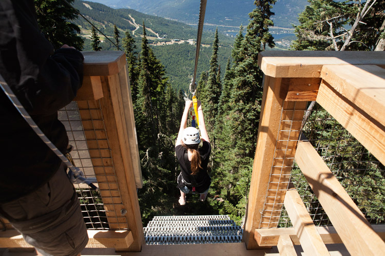 Launch of The Sasquatch Zipline