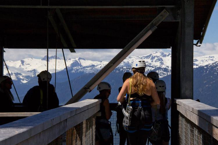 View from The Sasquatch Zipline in Whistler