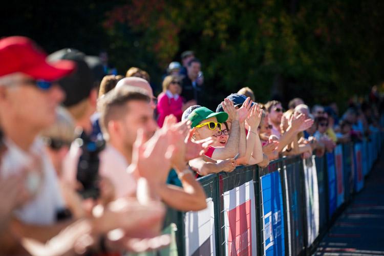 Cheering at the Finish Line at RBC GranFondo Whistler