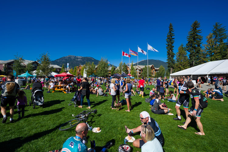 Finish line Celebrations at RBC GranFondo Whistler