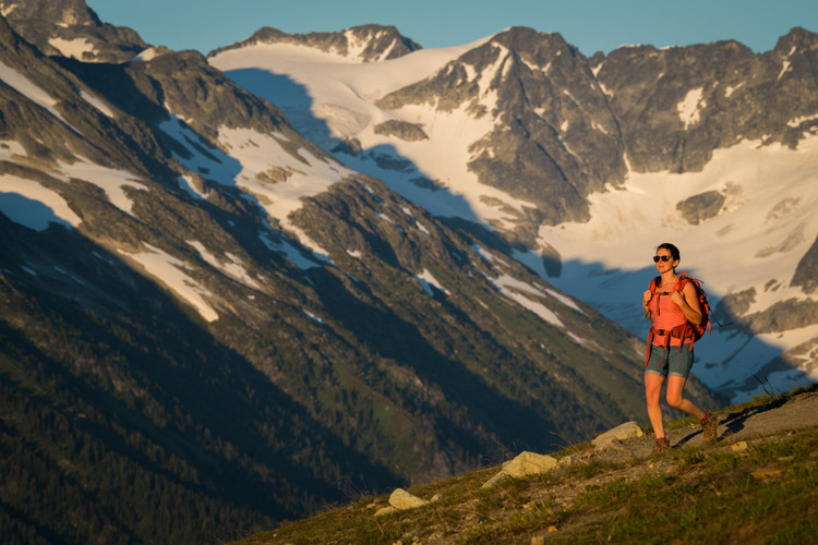 Hiking season on Whistler Mountain