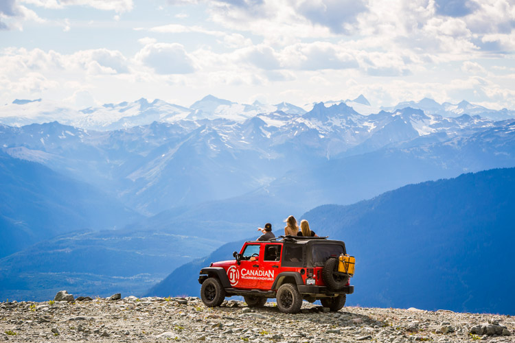 Atv, Jeep Salmon bake tour with Canadian Wilderness Adventures