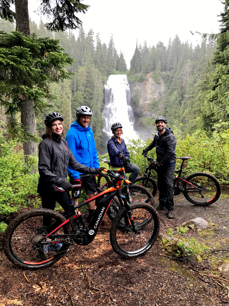 E-Bike Tours in Whistler at Alexander Falls