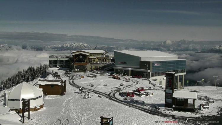 Early season snow on Whistler Mountain