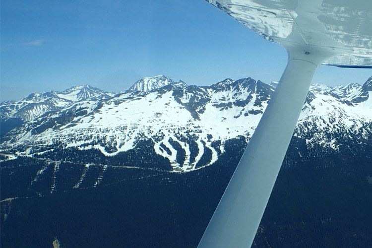 Blackcomb Mountain from a floatplane