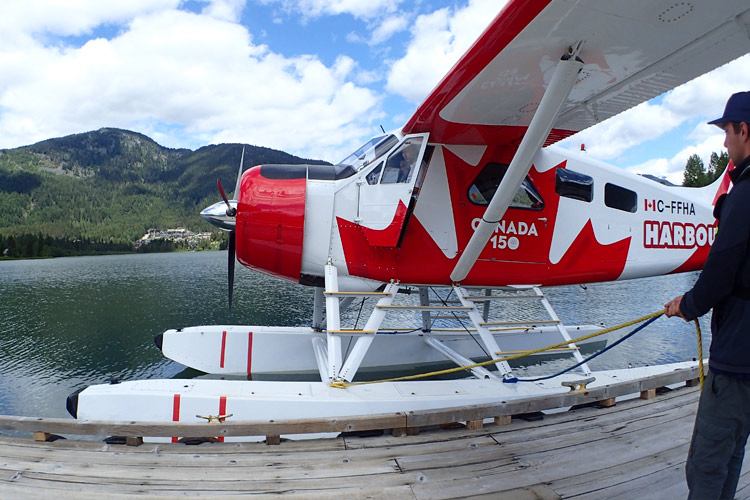 All aboard! Harbour Air added custom wraps for Canada 150. PHOTO EMILY SMITH