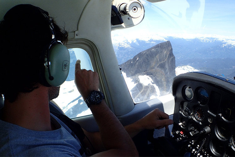 Black Tusk from the air, Whistler