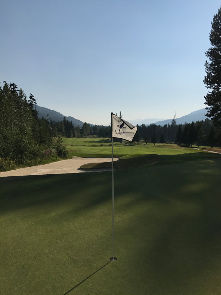 Proud Flag at the Fairmont Whistler Golf Course