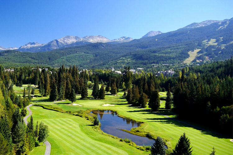 Aerial view of the Whistler Golf Club