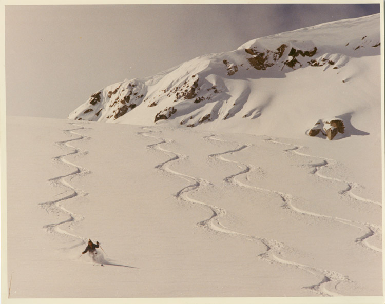 Skiing in Whistler in the 1980s