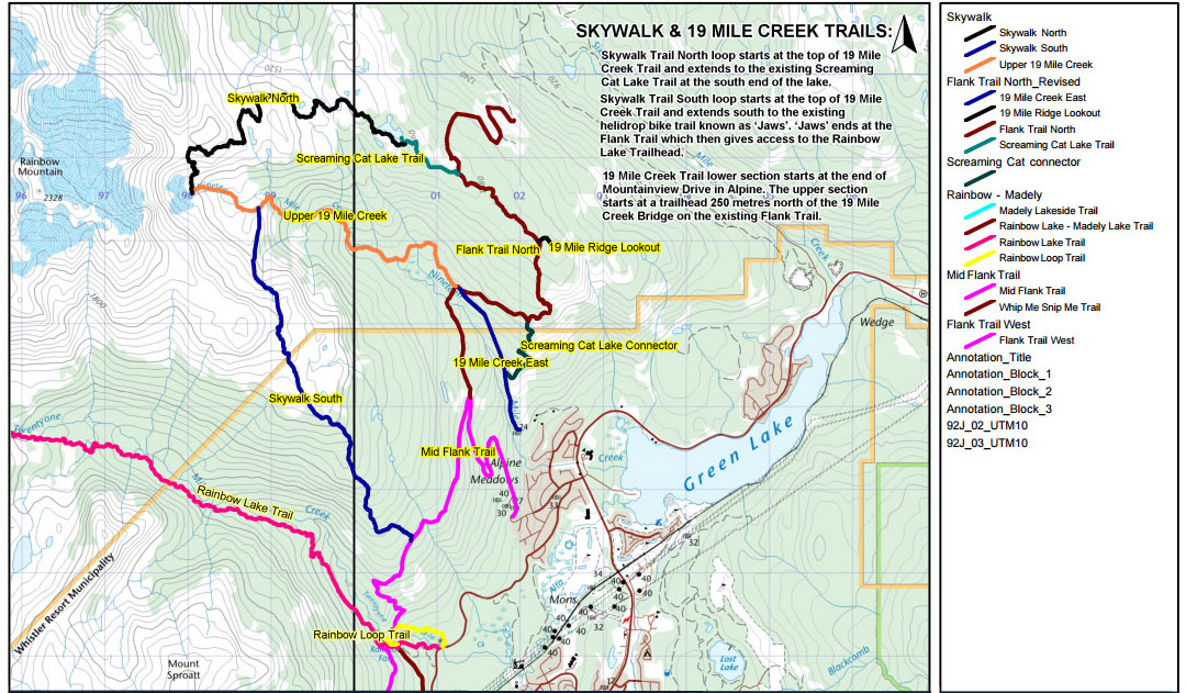 Rainbow Mountain and Skywalk hiking trails Map