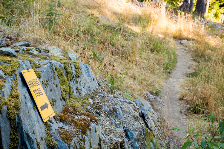 Trailhead on Mountain View Dr