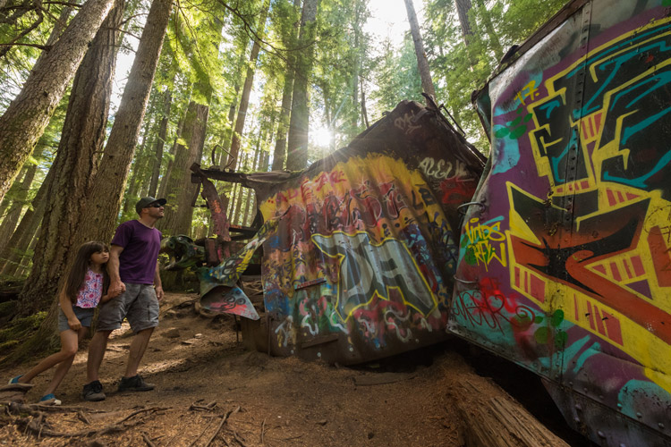 Train Wreck Hike in Whistler BC