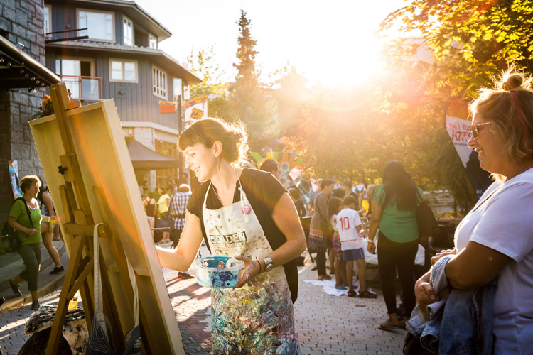 Jessa Gilbert Live Painting in Whistler VIllage