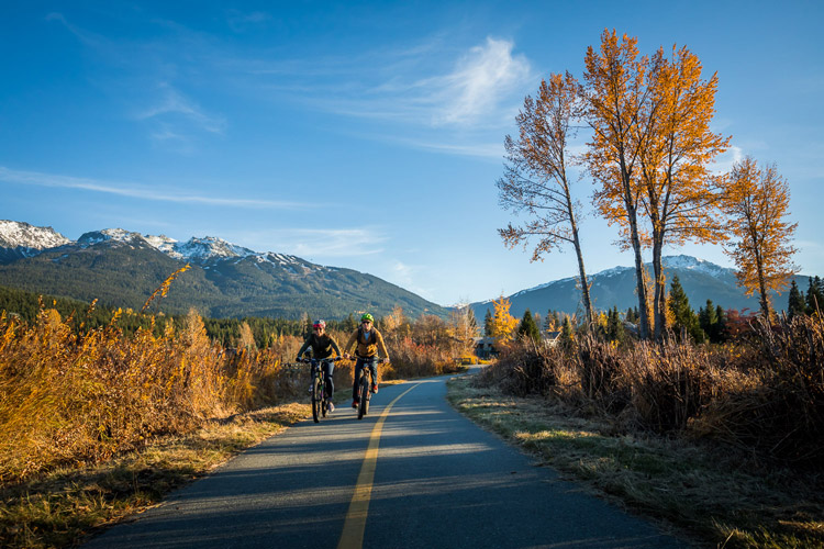 Autumn Bike Riding in Whistler