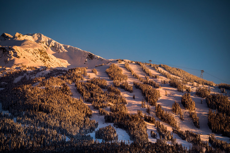 Alpenglow on Blackcomb Mountain