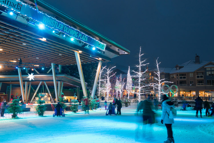 Ice Skating at Whistler Olympic Plaza