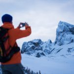 Stunning views of Black Tusk while backcountry touring