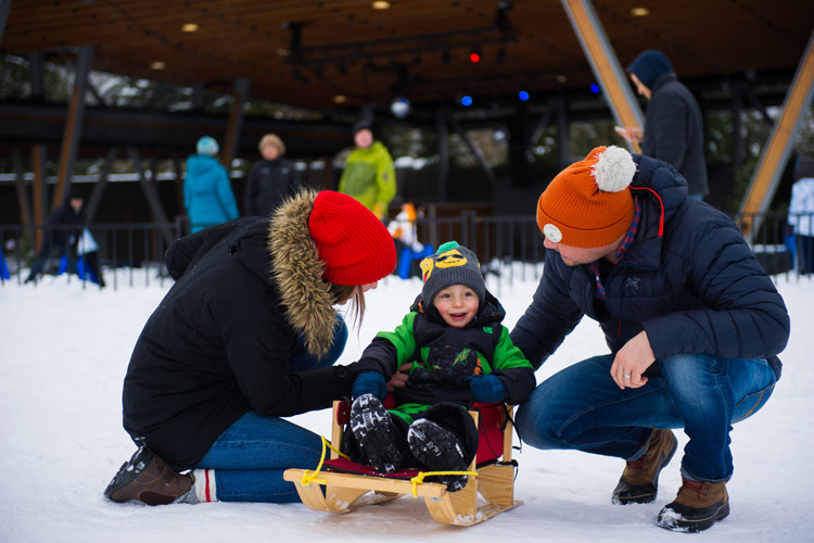 Family fun in Whistler village