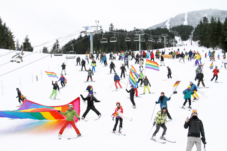 Whistler Winter Pride Ski Out