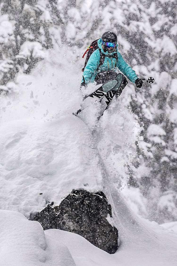Skiing Pillows on Whistler Mountain