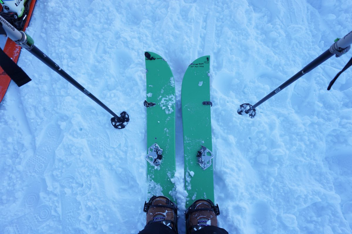 Splitboard In Skin Mode