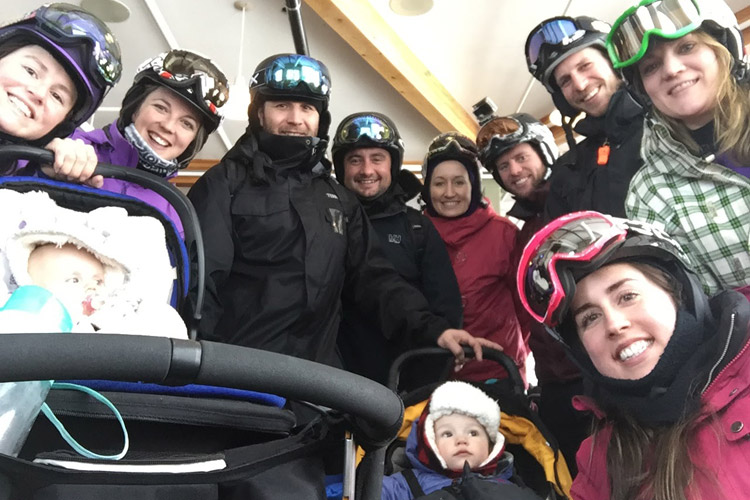 Group Ski Day in Whistler with Babies