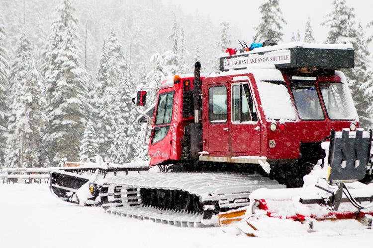 Callaghan Lake Snowcat Shuttle