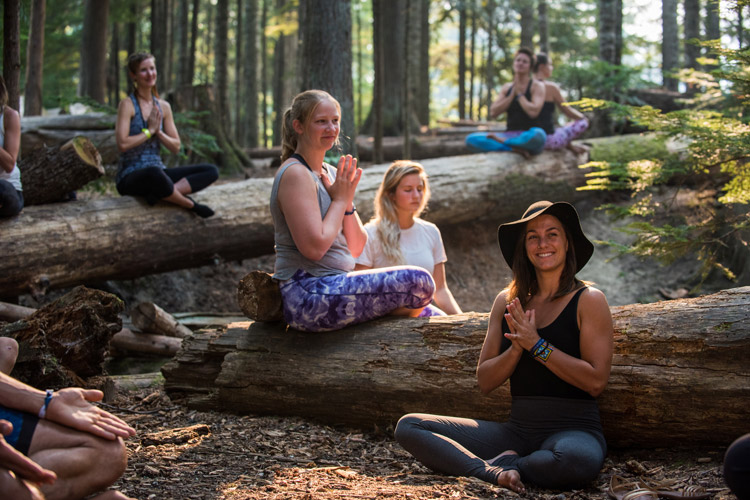 Yoga in the Forest at Wanderlust Whistler