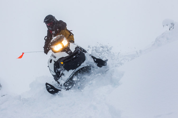 Snowmobiling in the Whistler Backcountry