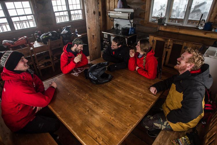 Inside the Canadian Wilderness Adventures hut