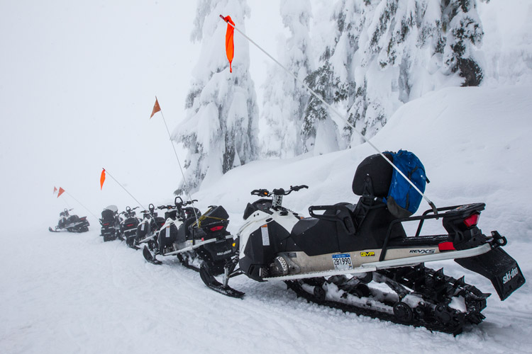 Canadian Wilderness Adventures Snowmobiles