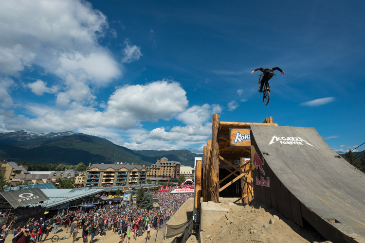 Red Bull Joyride at Crankworx Mountain Bike Festival. MIKE CRANE PHOTO