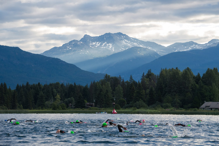Subaru IRONMAN® Canada swim event at Alta Lake. MIKE CRANE PHOTO