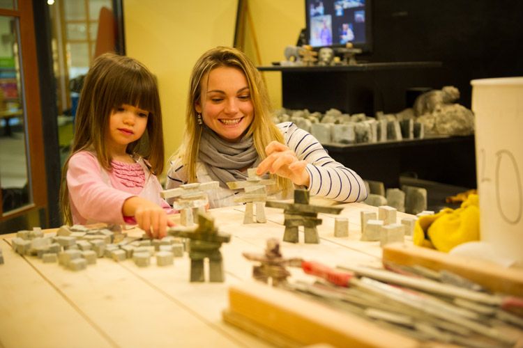 Take the little ones to a family friendly stone carving workshop at  Fathom Stone Art Gallery & Studio. MIKE CRANE PHOTO