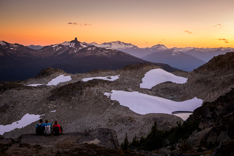 Nothing like watching a summer sunset in the Whistler alpine. JUSTA JESKOVA PHOTO
